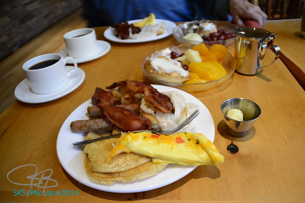 A hearty breakfast at the Zion Lodge
